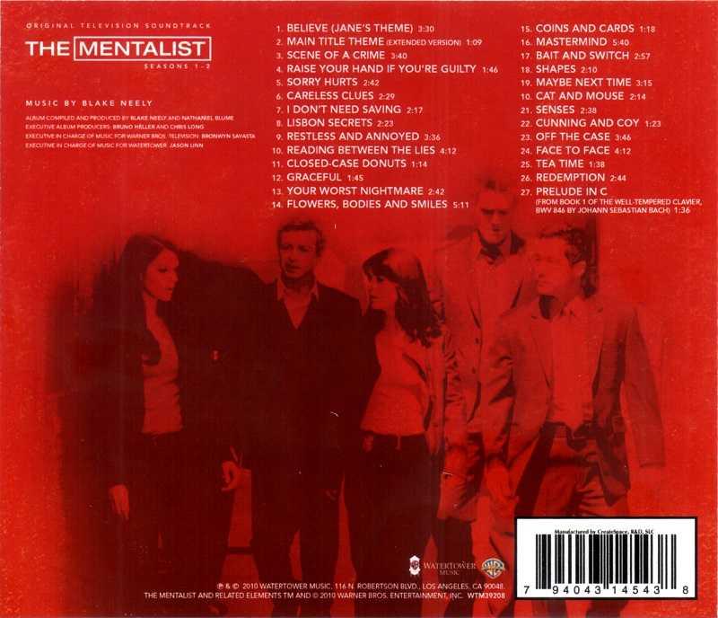 Mentalist – La musique de la série TV 15103011020320259513707484