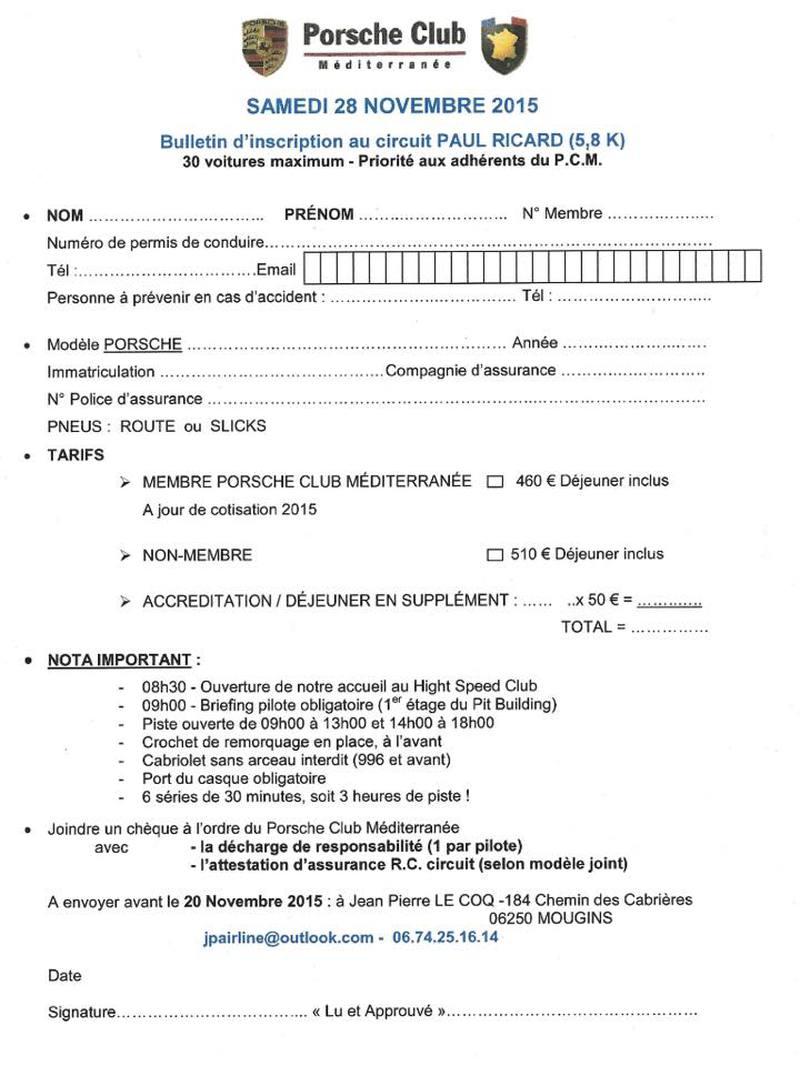 Le Castellet 28 novembre avec Porsche Club Méditerranée 1511171158406452913757665