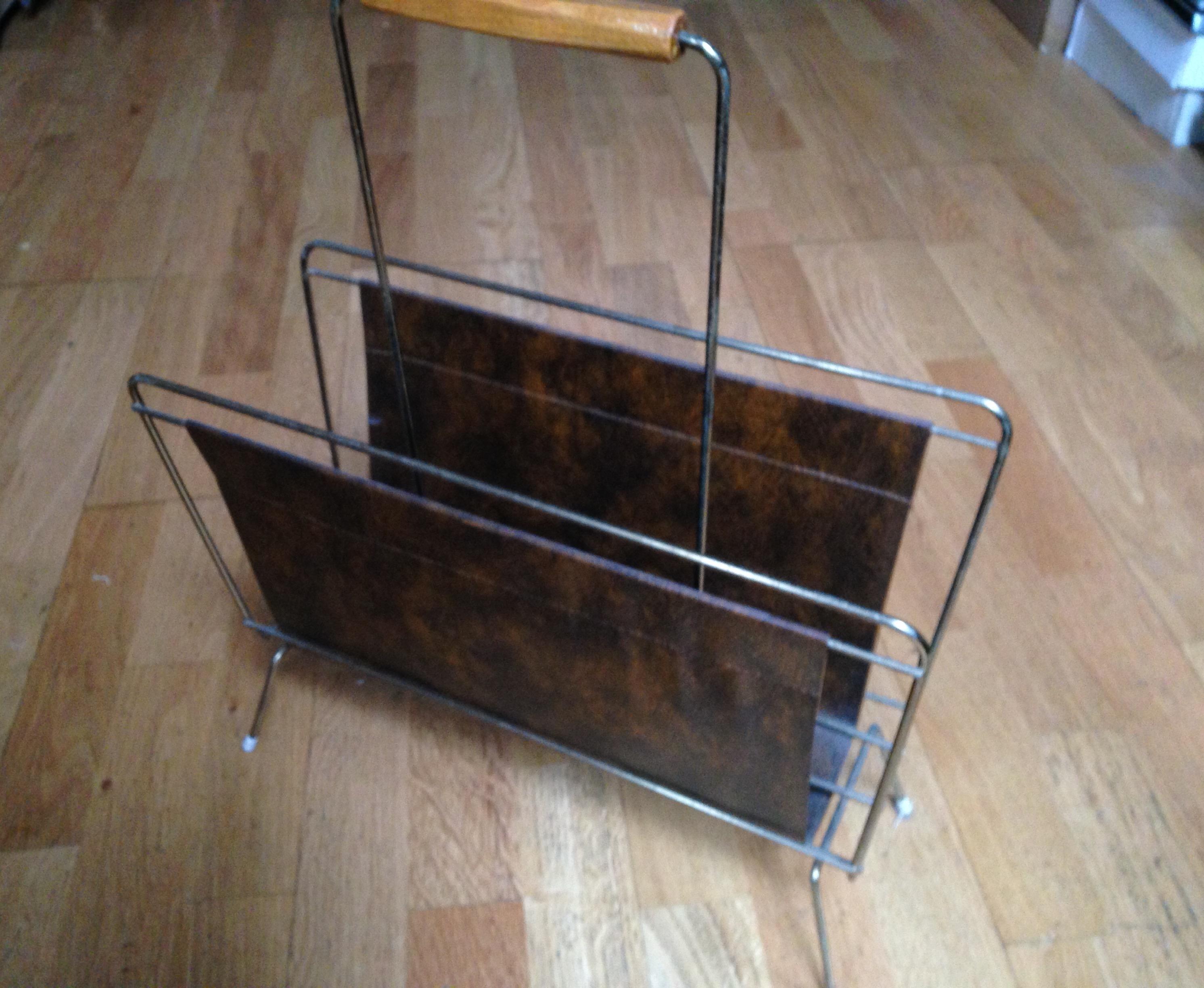 Vintage porte revue en m tal dor gain ann e 50 60 design for Porte metal 60