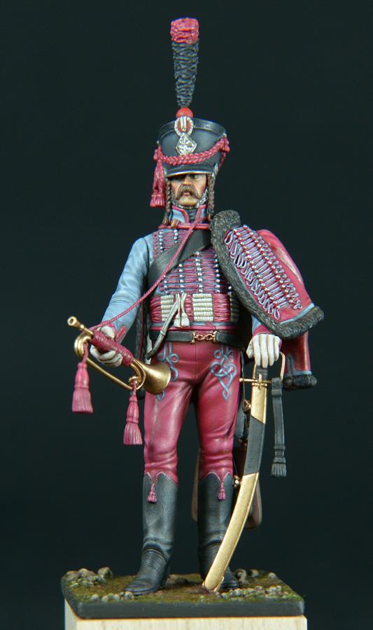 Trompette de Hussards du 3ème Régiment vers 1808 1511200755533593413765937