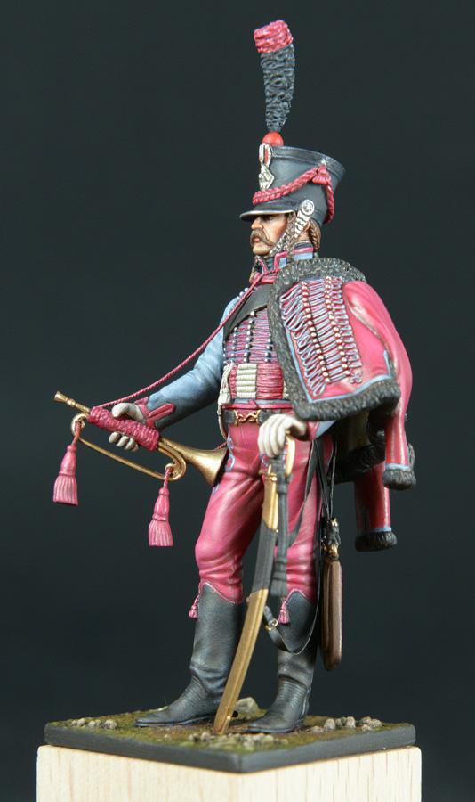Trompette de Hussards du 3ème Régiment vers 1808 1511200755553593413765938