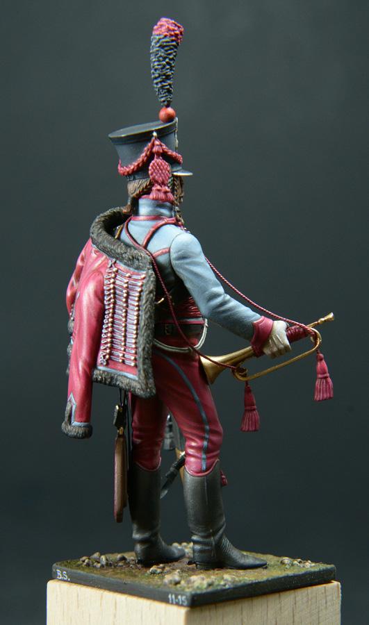 Trompette de Hussards du 3ème Régiment vers 1808 1511200755593593413765941