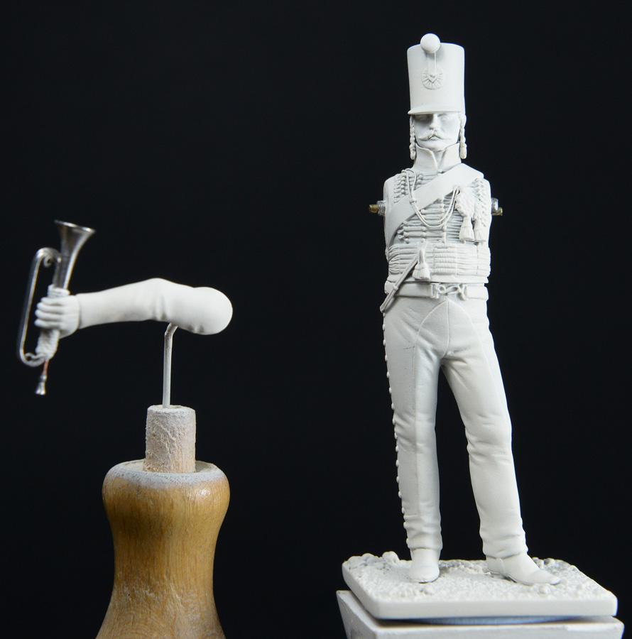 Trompette de Hussards du 7ème Régiment à Waterloo. 1511200757413593413765945