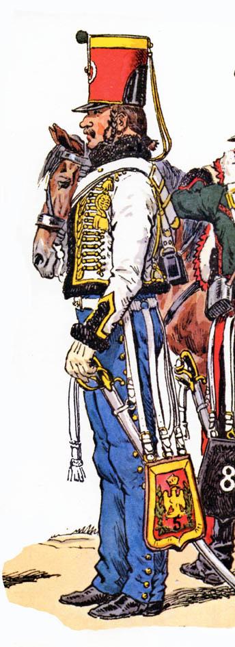 Trompette de Hussards du 7ème Régiment à Waterloo. 1511240756203593413776360