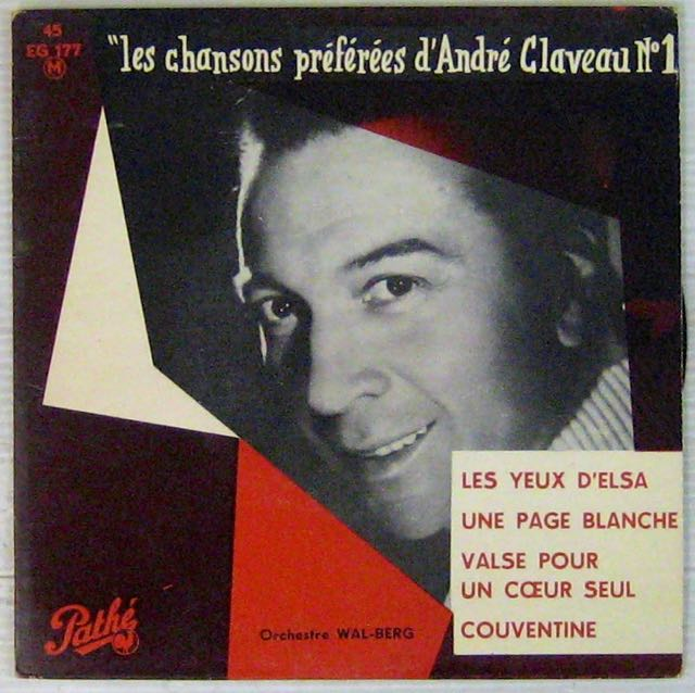 FERRAT <b>JEAN - CLAVEAU</b> ANDRÉ - Les yeux d'Elsa - 45T (EP 4 - 15112603414611158113780146