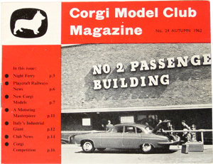 Corgi Model Club magazine automne 1962