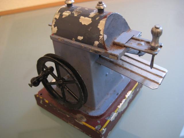jouet ancien t le accessoire machine vapeur rainureuse original 1920 tin plate ebay. Black Bedroom Furniture Sets. Home Design Ideas