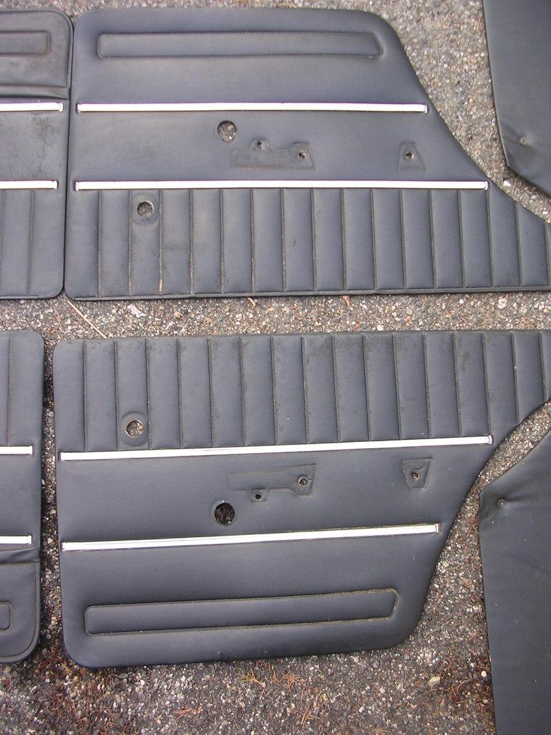 7 panneaux de portes noirs 2101 + 2102 1511290544416076413790631