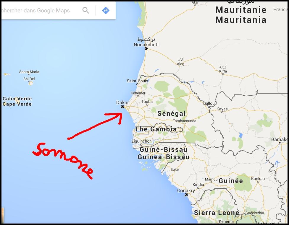 carte Afrique ouest