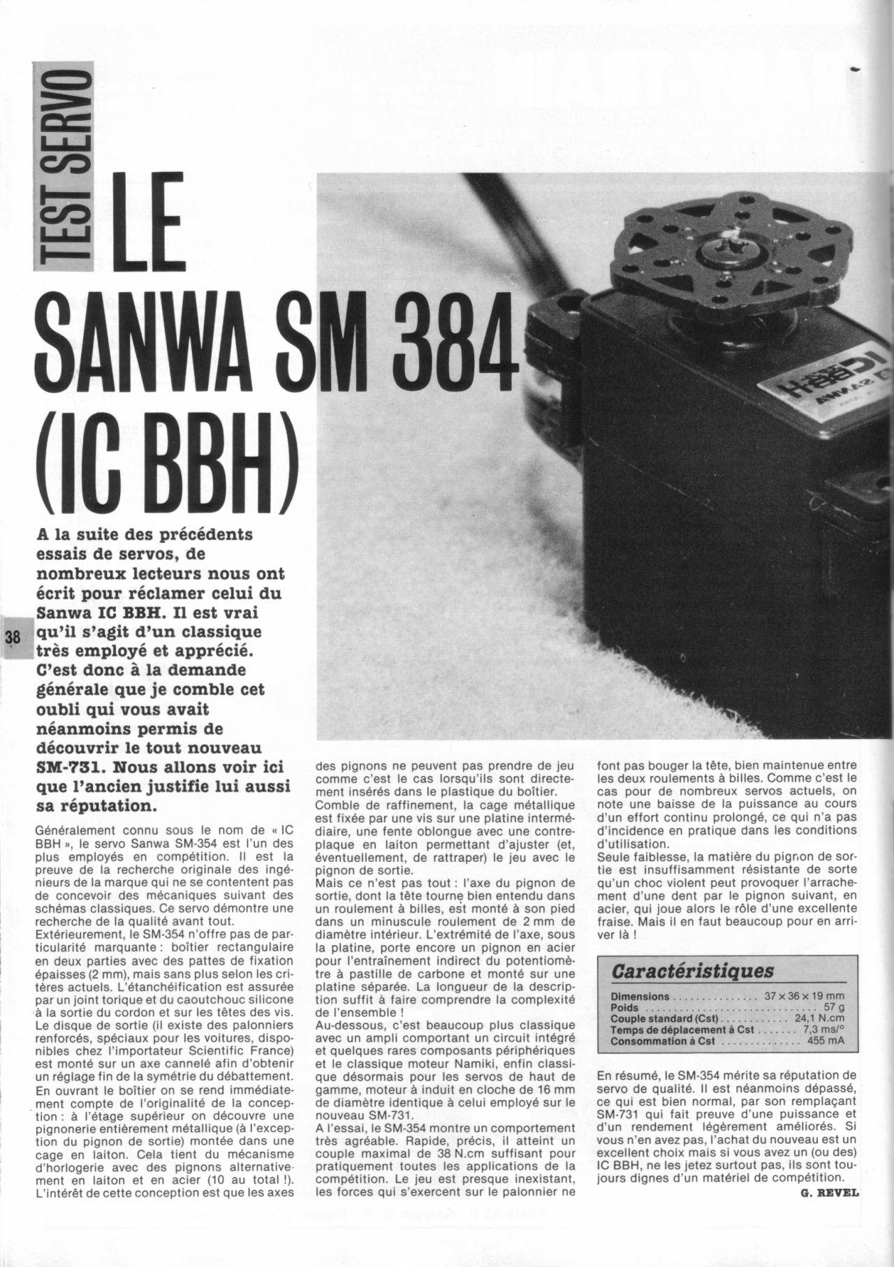 Servo Sanwa IC-BBH Auto8 N°11 avril 1986-1
