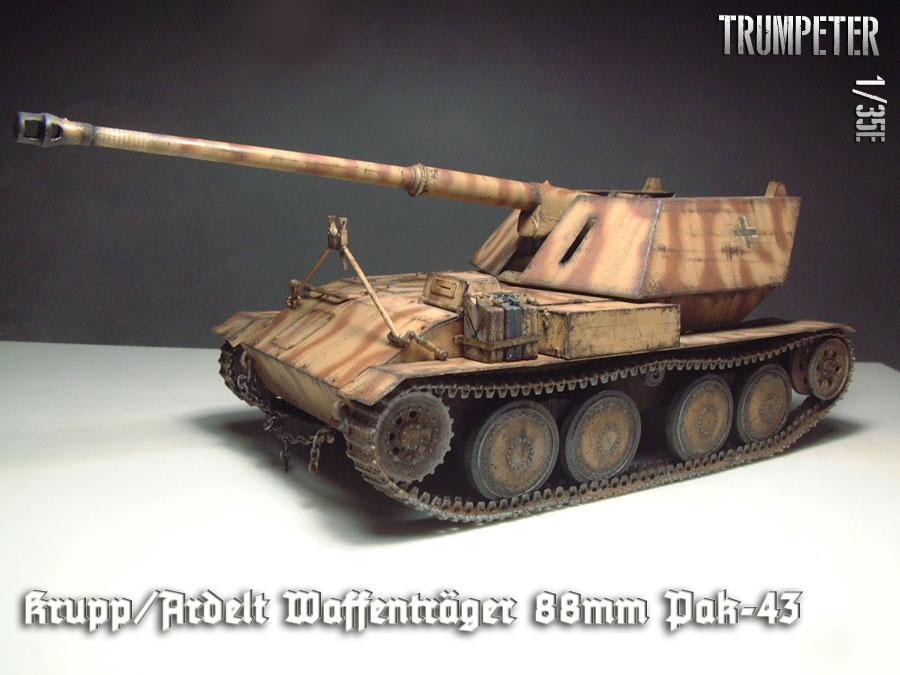 Krupp/Ardelt Wafenträger 88mm Pak-43 [Trumpeter] - 1/35e 1512241008434769013851629