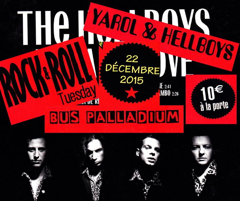 "YAROL POUPAUD & THE HELLBOYS & PHILIPPE ALMOSNINO (""Mutant Love"") 22/12/2015 Bus Palladium (Paris) : compte rendu 15122710152020773813857801"