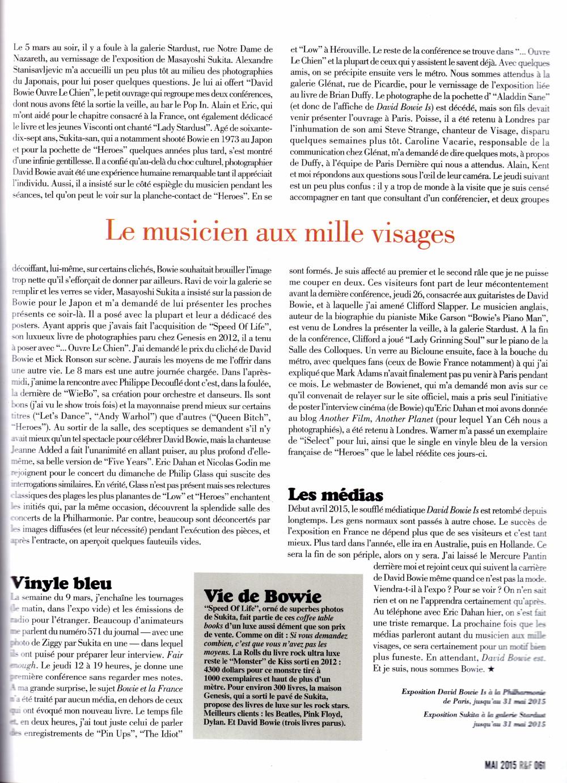 """Visite de l'exposition """"DAVID BOWIE IS"""" à la Philharmonie de Paris 2015 par JERÔME SOLIGNY (""""Rock Folk"""", mai 2015) 16011109074020773813888105"""