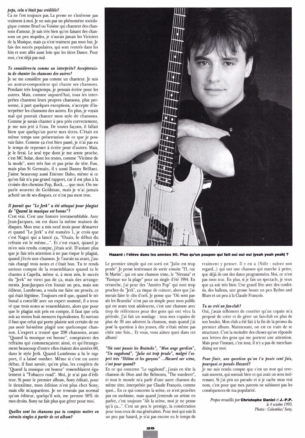 """THIERRY HAZARD (G.P.S., """"Le jerk"""") : interview 1993 dans """"Platine"""" (par Christophe Daniel & Jean-Pierre Pasqualini) 16011111430220773813888361"""