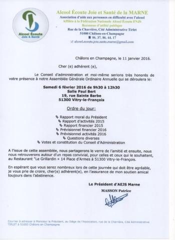 Assemblée Générale 2016 Vitry-le-François 160112114556947213888747
