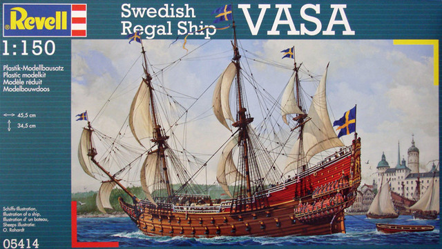 Swedish Regal Ship - Wasa ( 1628 ) --> Maquette Revell 1/150 ... 16011409284310194413895022