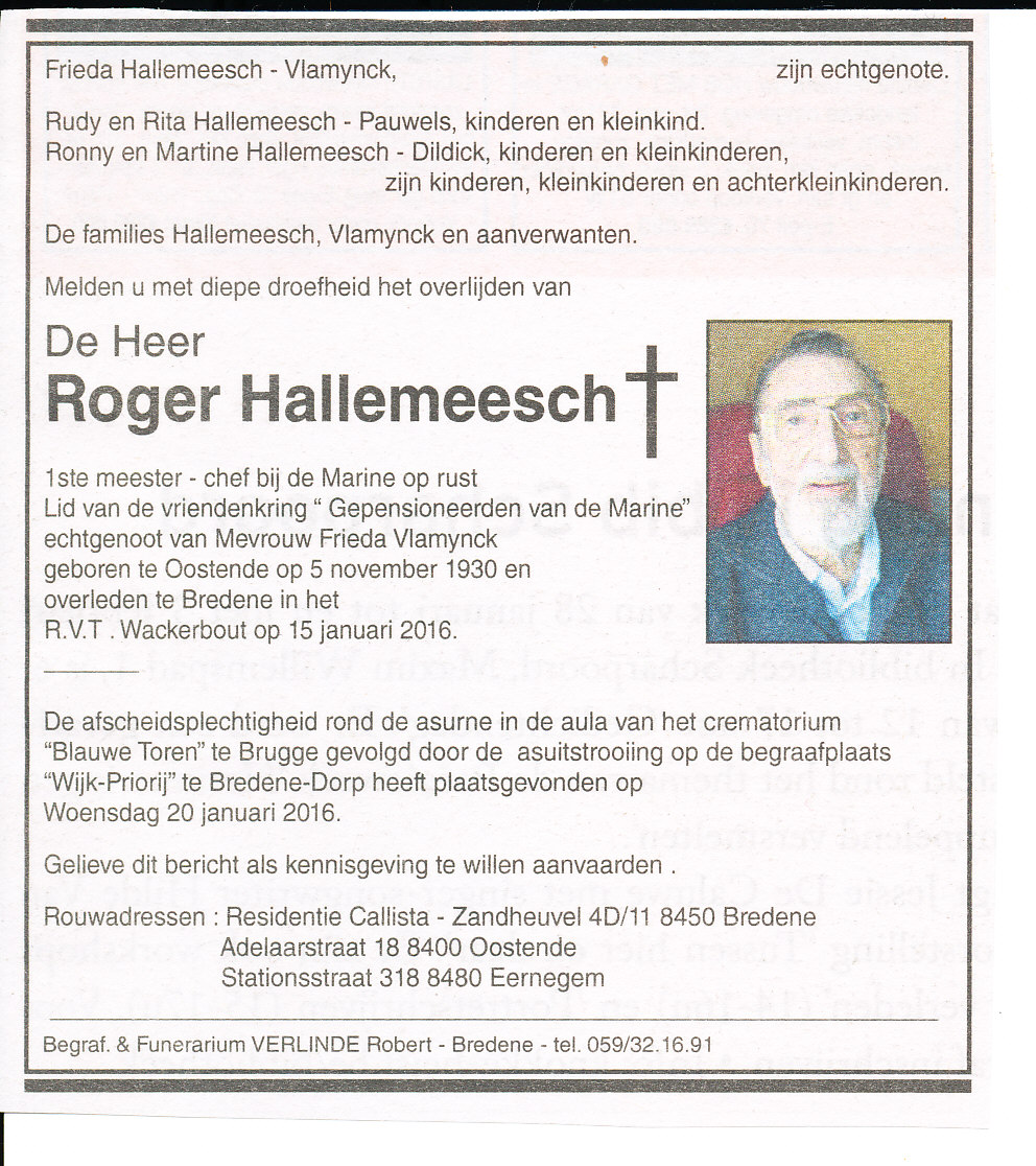 Déces - Overlijden (2) - Page 2 16012311400119256613916357
