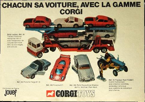 Publicité Corgi-Toys