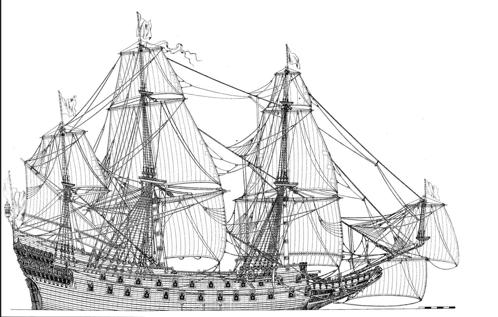 Swedish Regal Ship - Wasa ( 1628 ) --> Maquette Revell 1/150 ... 16020310085310194413945722
