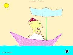 dessin fantaisiste - ballade en mer