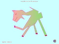 dessin fantaisiste - cabriole de l'agneau
