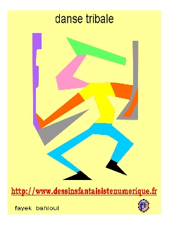 dessin fantaisiste - danse tribale (3)