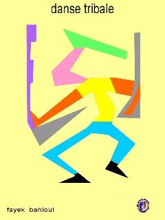 dessin fantaisiste - danse tribale