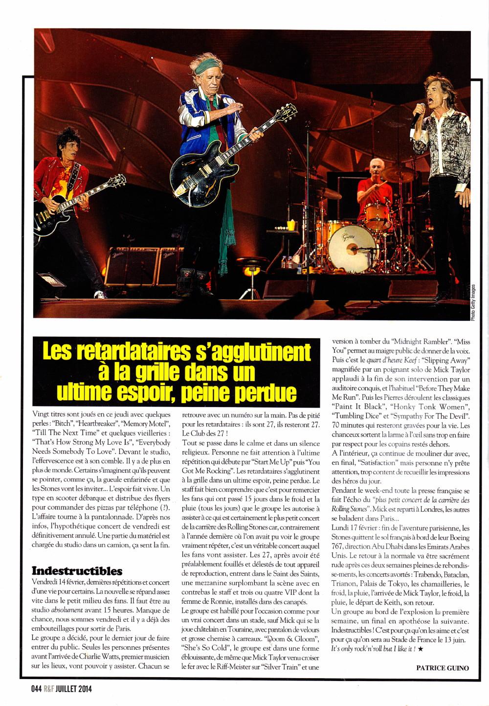 """THE ROLLING STONES : The Bondy Affair"" (""Rock&Folk"", juillet 2014) 16021911262620773813986976"
