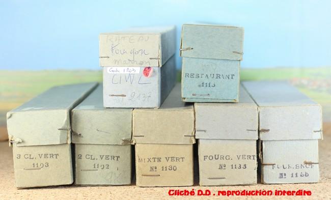 WAGONS VOYAGEURS RATEAU Longueur 23cm 16022605330416773114009730