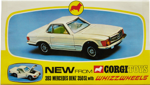 Mercedes 350 SL Corgi-Toys shop sign