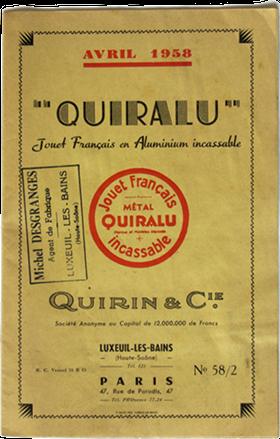 Brochure de tarifs Quiralu avril 1958