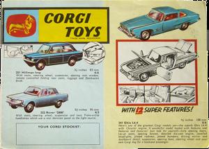 Dépliant Corgi-Toys 1963