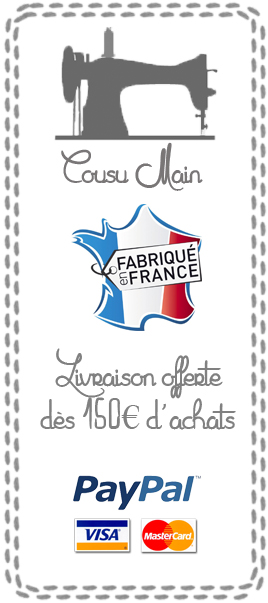 cousu main fabrication française livraison