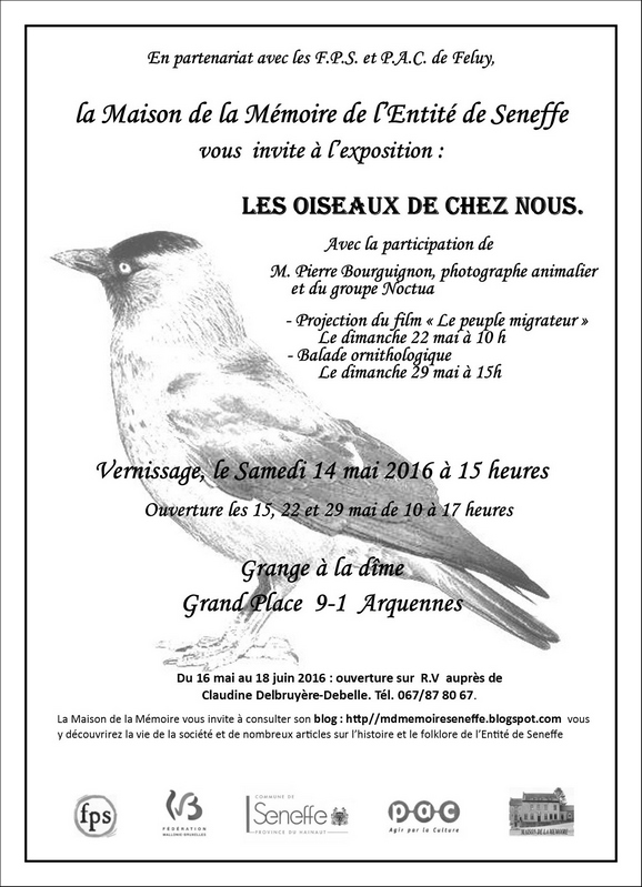 Exposition à ARQUENNES par Pierre BOURGUIGNON, photographe animalier