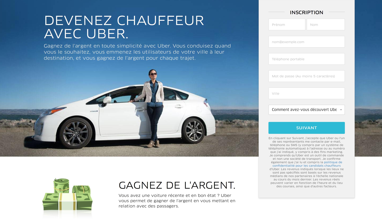 Uber devenir chauffeur
