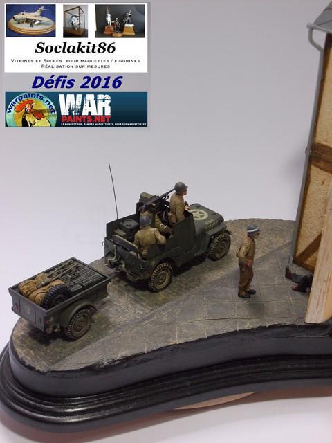 Betty en Germanie... Jeep Willys Blindée + remorque , rue pavée et maison colombage 16050607161910194414205174