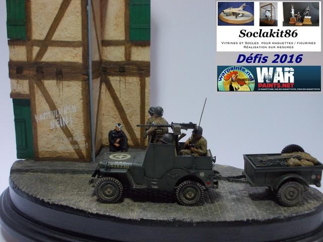 Betty en Germanie... Jeep Willys Blindée + remorque , rue pavée et maison colombage 16050607172010194414205178