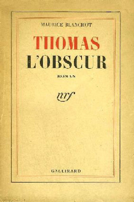 Maurice Blanchot - Thomas l'Obscur