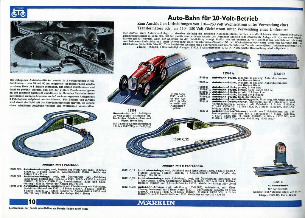 marklin catalogue allemand 1936-37 auto-bahn (Copier)