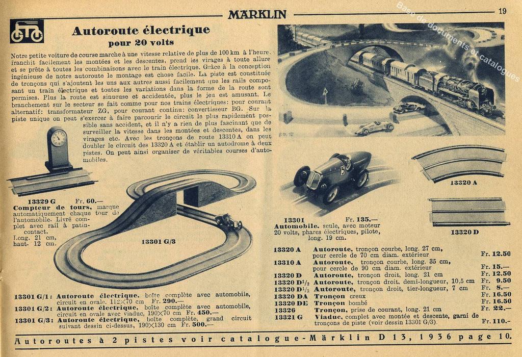 marklin catalogue français 1936 auto-bahn (Copier)
