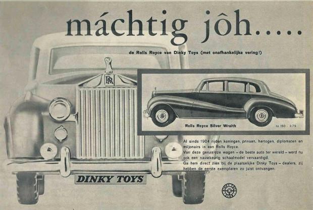 Publicité Rolls-Royce Silver Wraith Dinky-Toys