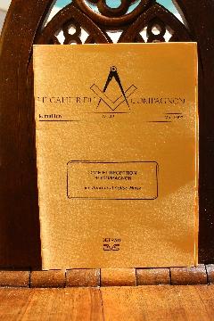 """Album A DECOUVRIR FRANC-MAçONNERIE """"LOGE et RECEPTION de COMPAGNON"""" mai 1993"""