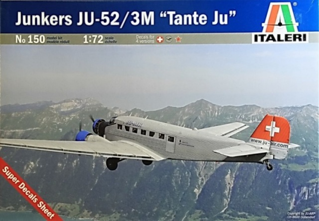 "Junkers Ju-52 ""Milka"" ( Italeri plus  décals Karaya et FFSMC au 1/72 )  16072806182810194414398570"