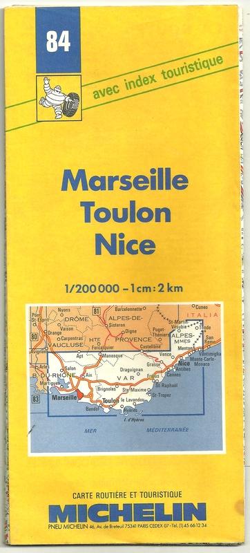 Cartina Lazio Michelin.Cartolina Turistica Michelin Marsiglia Toulon Nice 1 200000