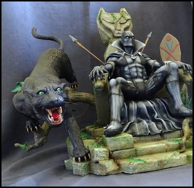 Black Panther sur son trone diorama 1/4 16081302232716083614427174