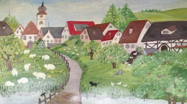 Christiane : Peinture sur bois II 1609040955141858214471634