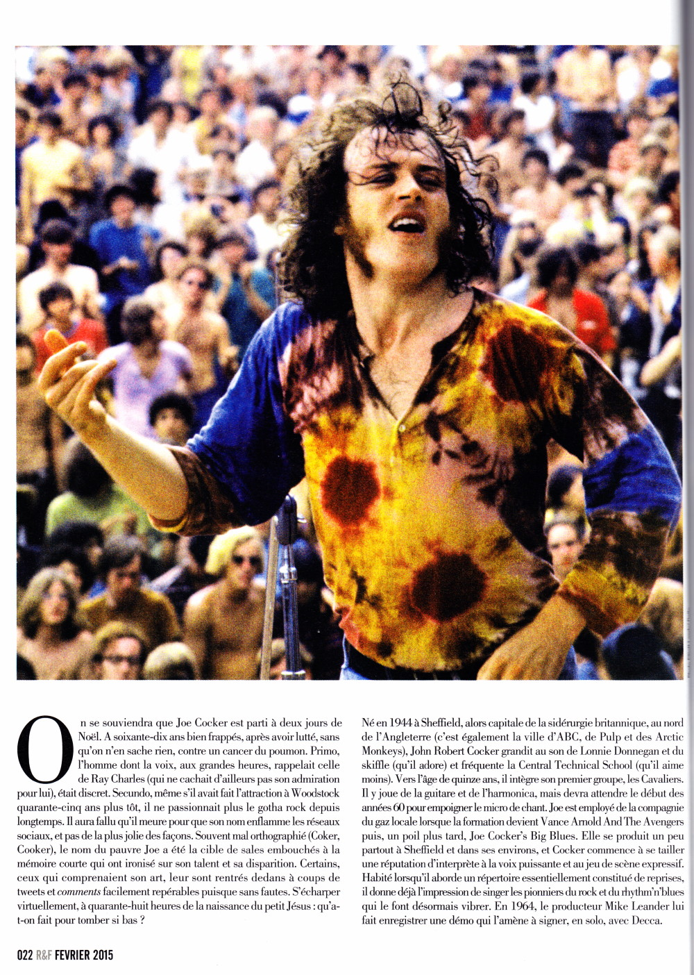 "JOE COCKER par JEROME SOLIGNY (""Rock Folk"", février 2015) 16091909582320773814501760"
