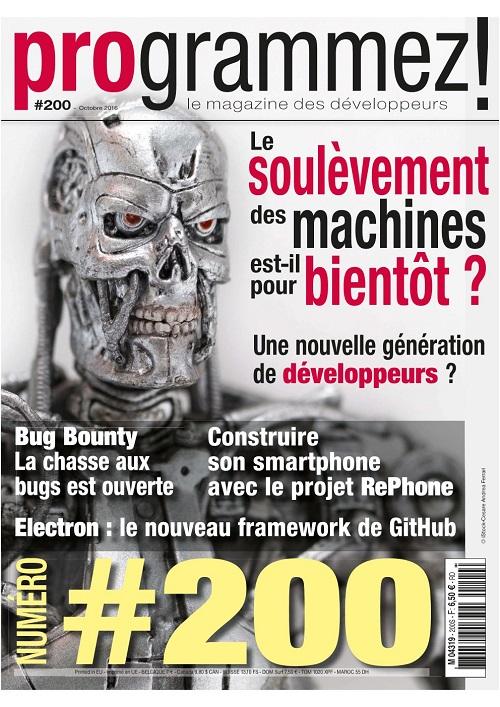 Magazine Programmez! - n°200 - octobre 2016
