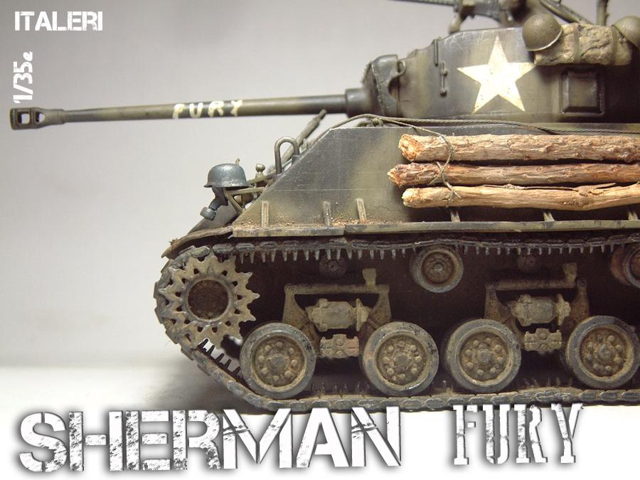 """M4A3E8 Sherman """"Fury"""" - 1/35e - [Italeri] 1610300325554769014594041"""