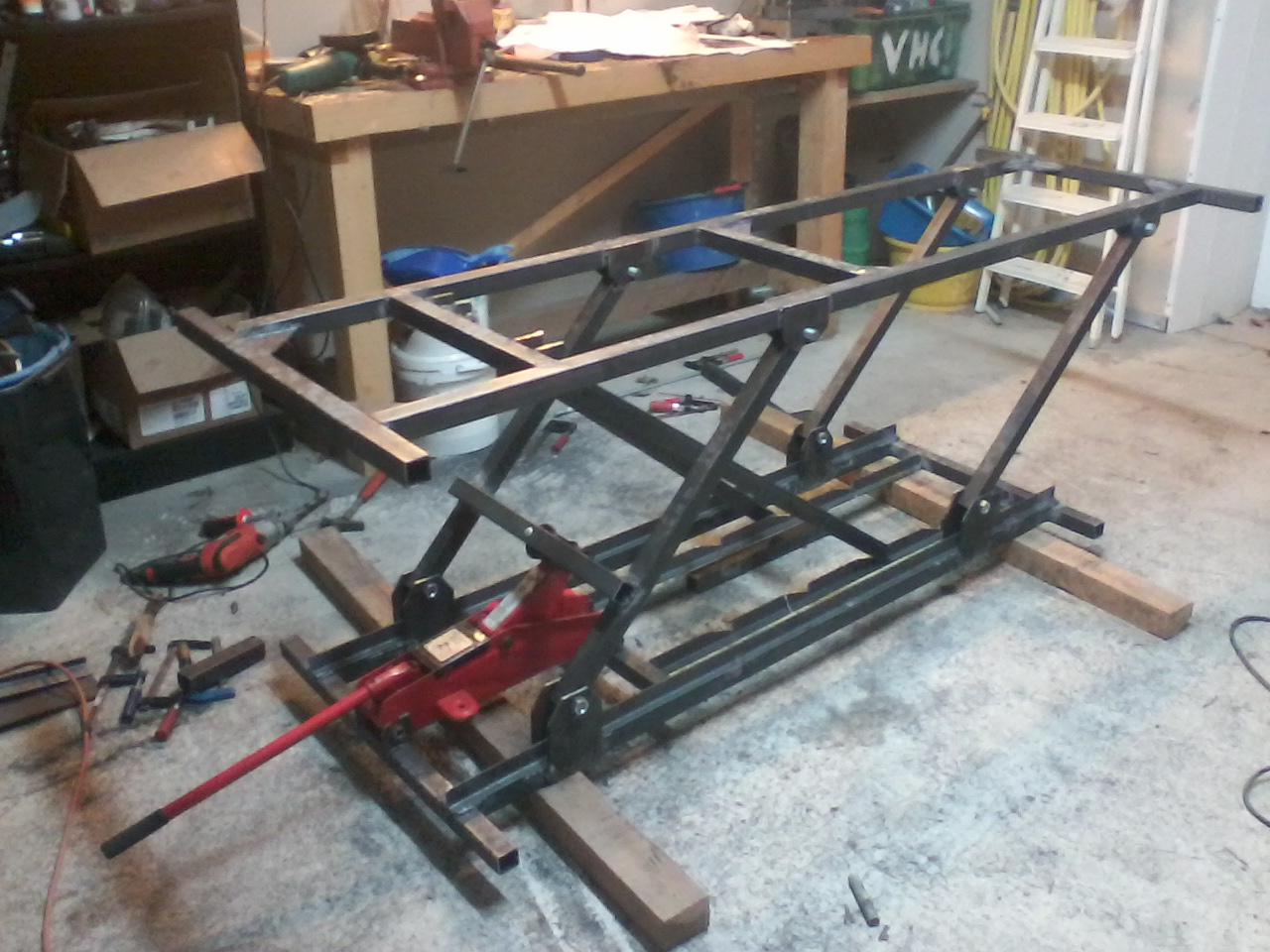 Construction d 39 une table elevatrice forum moto - Fabriquer une table elevatrice moto ...